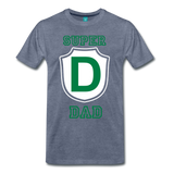 SUPRER DAD - heather blue