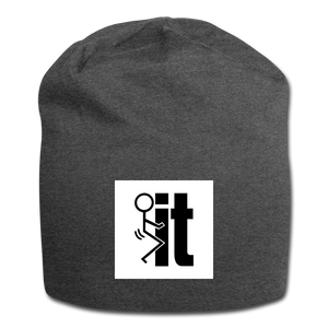 F It Beanie - charcoal gray