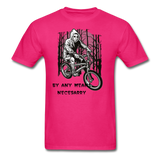 By Any Means Tee - fuchsia