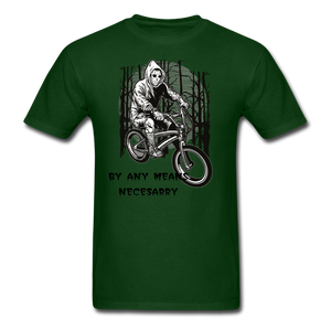 By Any Means Tee - forest green