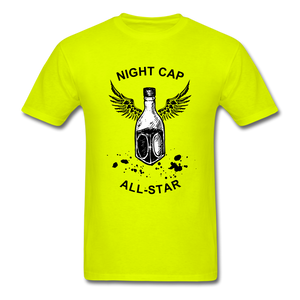 Night Cap Tee - safety green