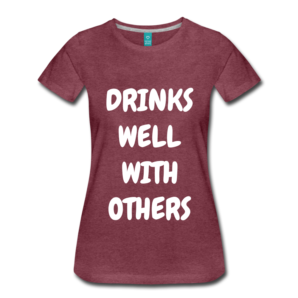 DRINKS WELL - heather burgundy