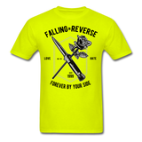 Fall in Reverse Tee - safety green