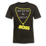 Let Me Be Great Tee - mineral black