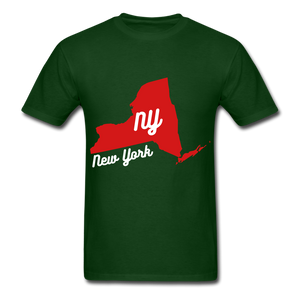 NY Tee - forest green