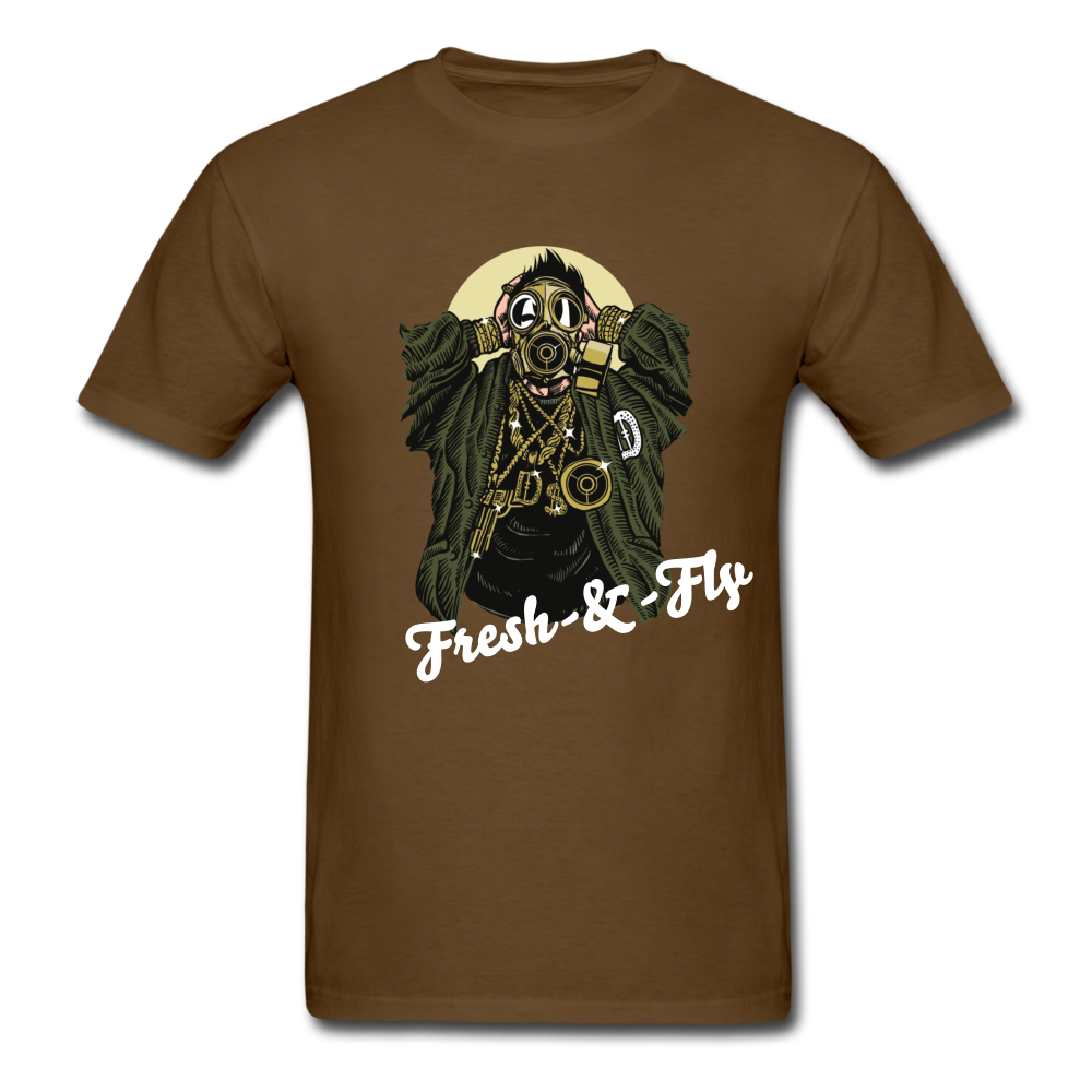 Fresh-&-Fly Tee - brown