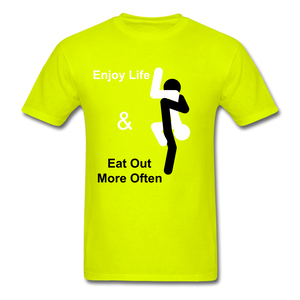 Eat Out Tee - safety green