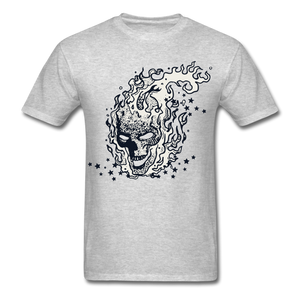 Sparkle Skull Tee - heather gray