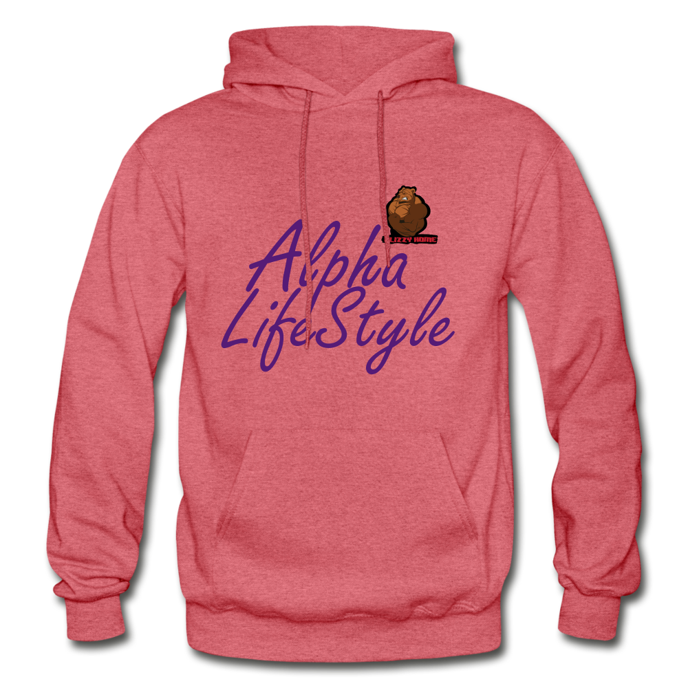 Woman's Alpha LifeStyle Hoodie - heather red