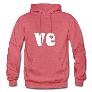 Love His/Hers Hoodie - heather red