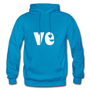 Love His/Hers Hoodie - turquoise