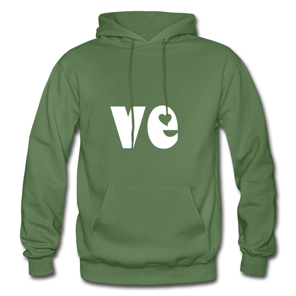 Love His/Hers Hoodie - military green
