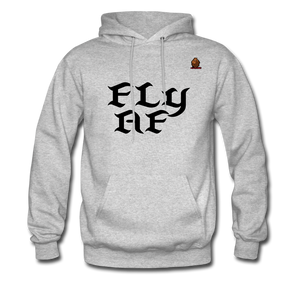 FLY AF HOODIE - heather gray