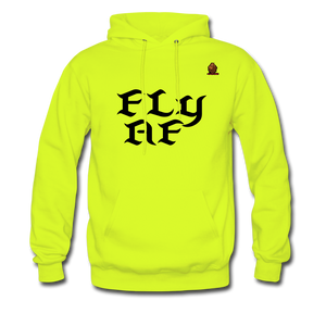 FLY AF HOODIE - safety green