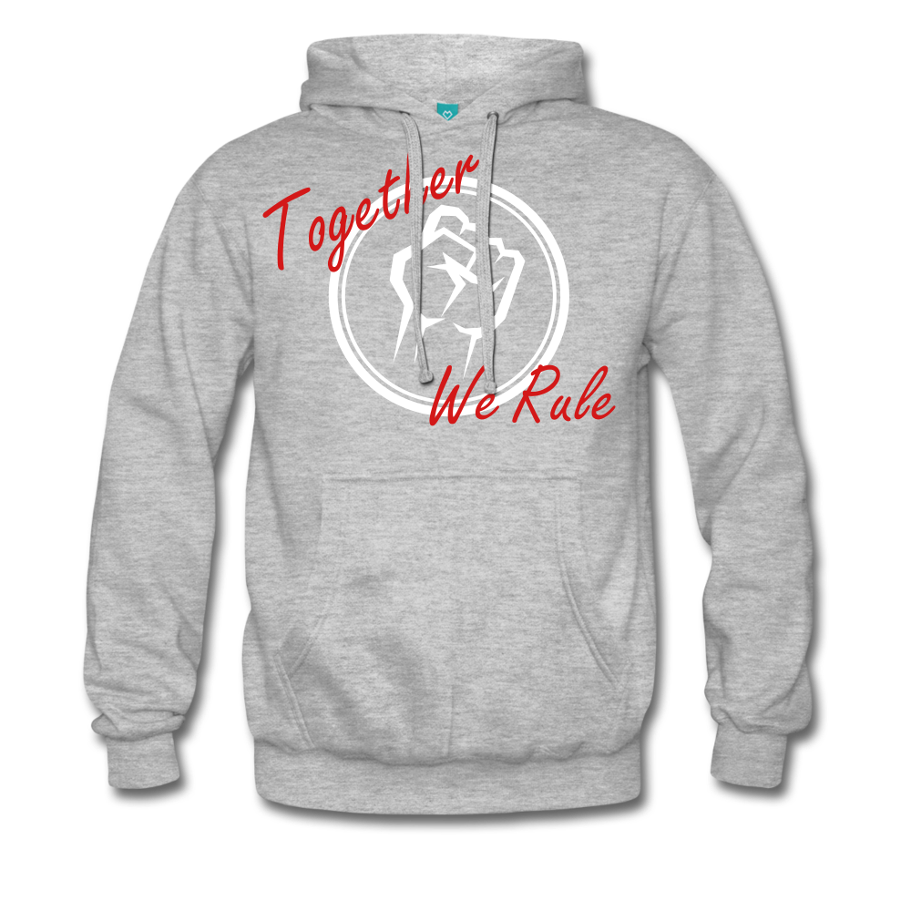 Together We Rule Hoodie. - heather grey