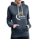 Queen Hoodie - heather denim
