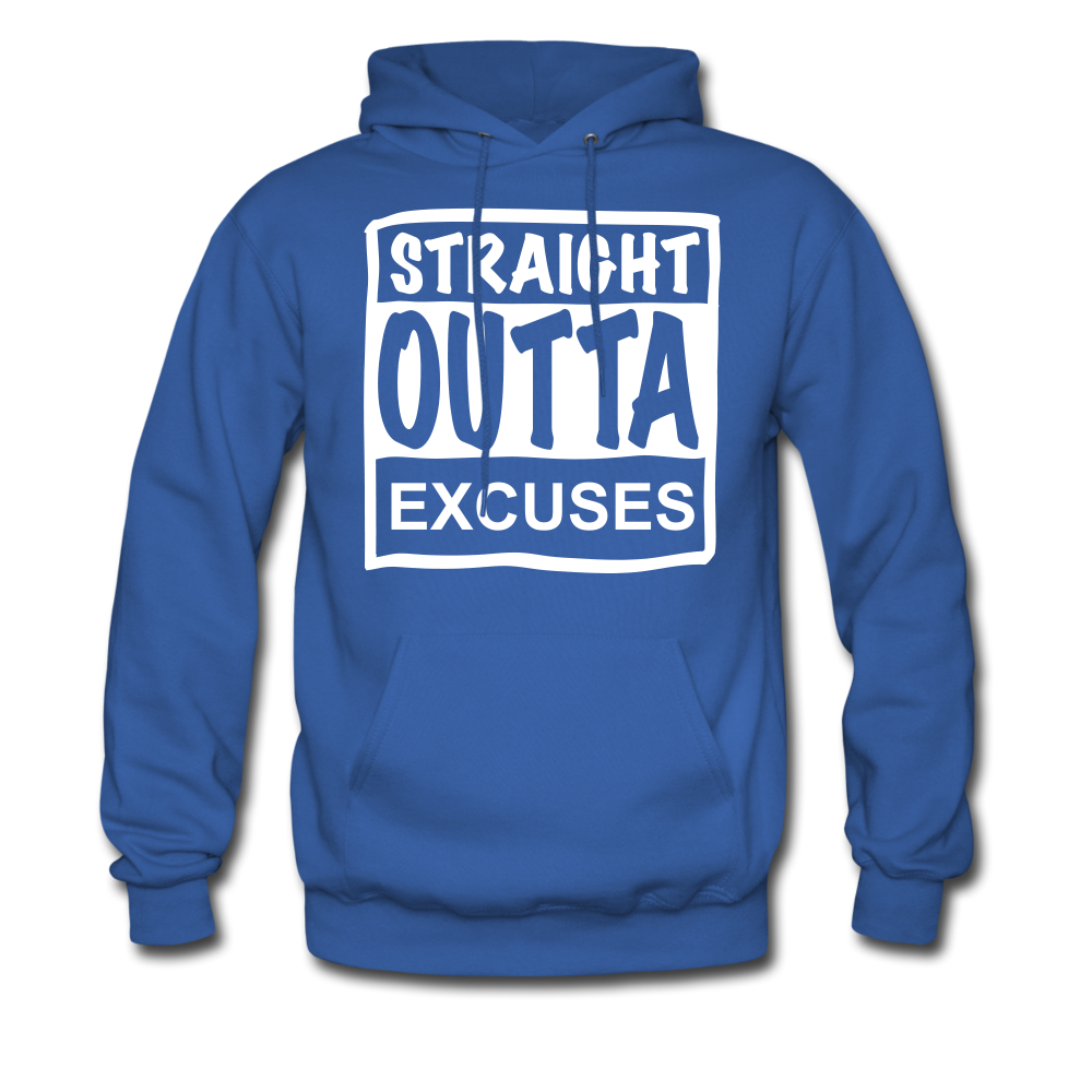 Straight Outta Excuses - royal blue