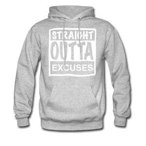 Straight Outta Excuses - heather gray