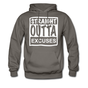 Straight Outta Excuses - asphalt gray