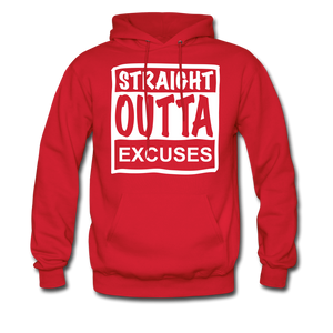 Straight Outta Excuses - red
