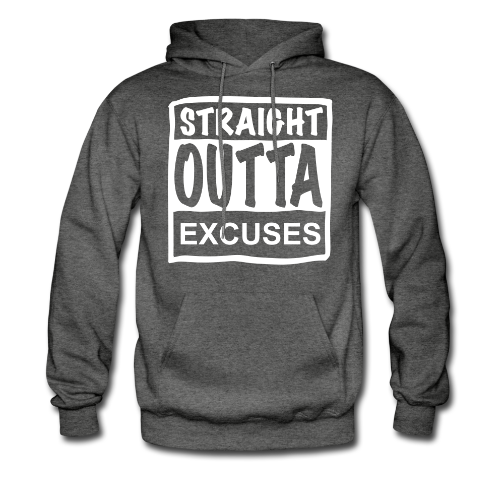 Straight Outta Excuses - charcoal gray