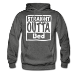 Straight Outta Bed - charcoal gray