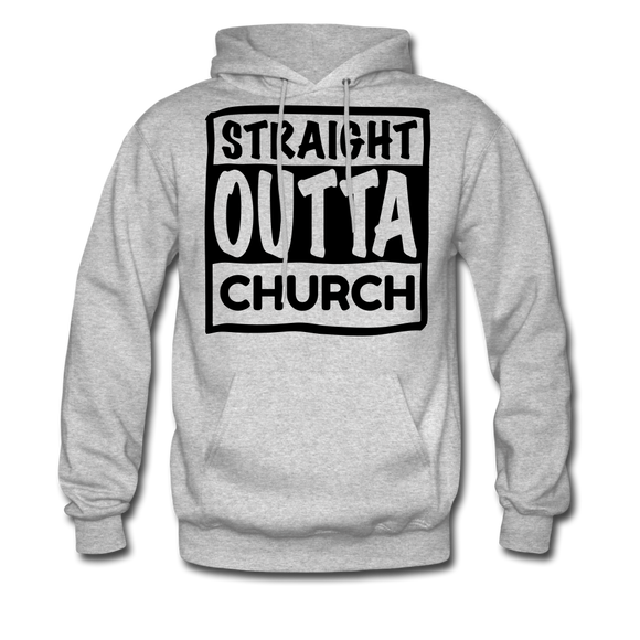 Straight Outta Church - heather gray