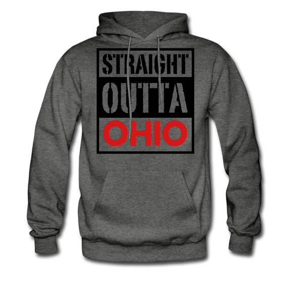 Straight Outta Ohio - charcoal gray