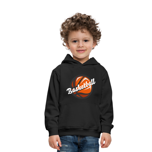 Kid's Basketball Hoodie - black
