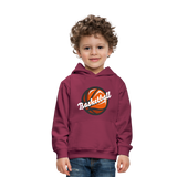 Kid's Basketball Hoodie - burgundy