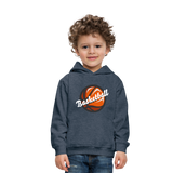 Kid's Basketball Hoodie - heather denim