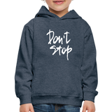 Kid's Don't Stop Hoodie - heather denim