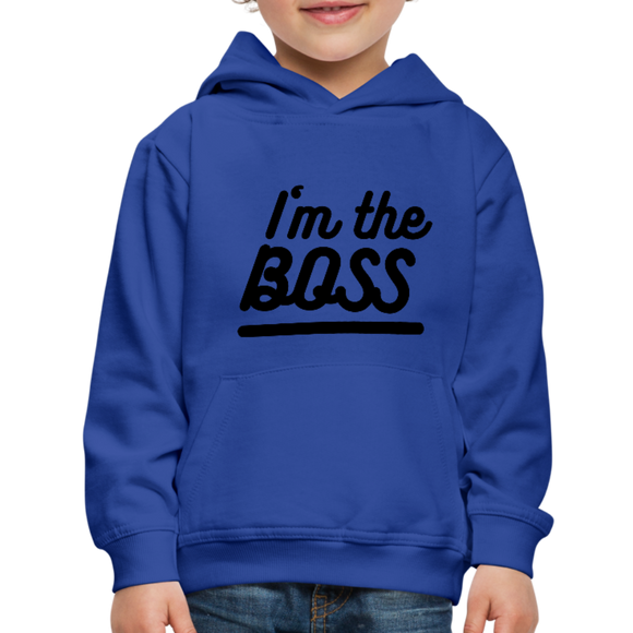 Kid's Boss Hoodie - royal blue