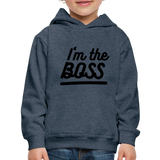 Kid's Boss Hoodie - heather denim