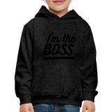 Kid's Boss Hoodie - charcoal gray