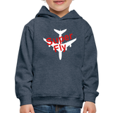 Kid's Super Fly Hoodie - heather denim