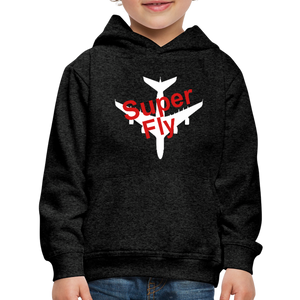 Kid's Super Fly Hoodie - charcoal gray