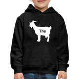 Kid's Goat Hoodie - charcoal gray