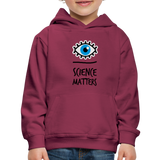 Kid's Science Hoodie - burgundy