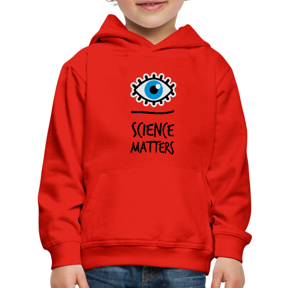 Kid's Science Hoodie - red