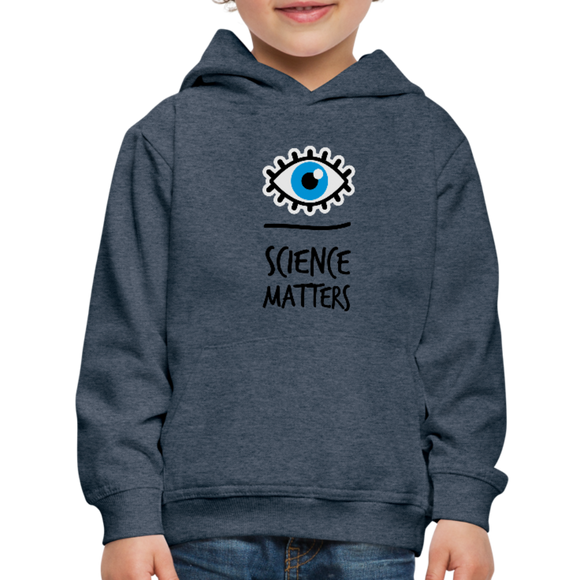 Kid's Science Hoodie - heather denim