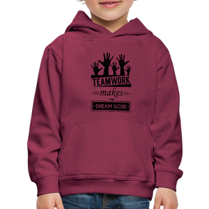 Kid's Team Work Hoodie - burgundy