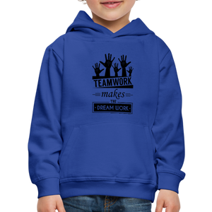 Kid's Team Work Hoodie - royal blue