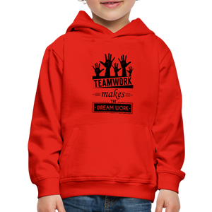 Kid's Team Work Hoodie - red