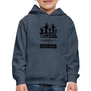 Kid's Team Work Hoodie - heather denim
