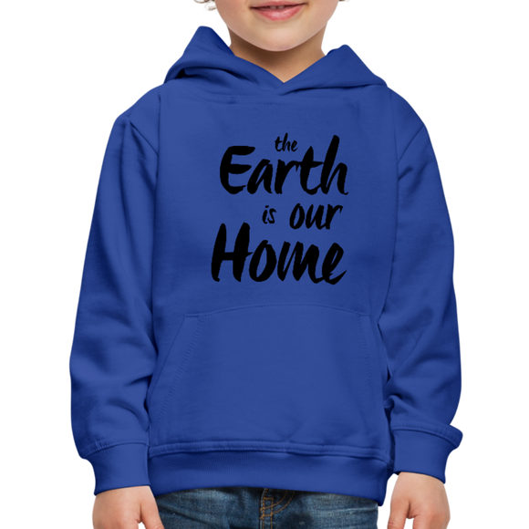 Kid's Earth Is Our Home Hoodie - royal blue