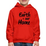 Kid's Earth Is Our Home Hoodie - red