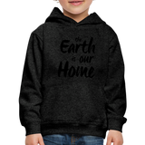 Kid's Earth Is Our Home Hoodie - charcoal gray