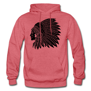 Native Hoodie - heather red