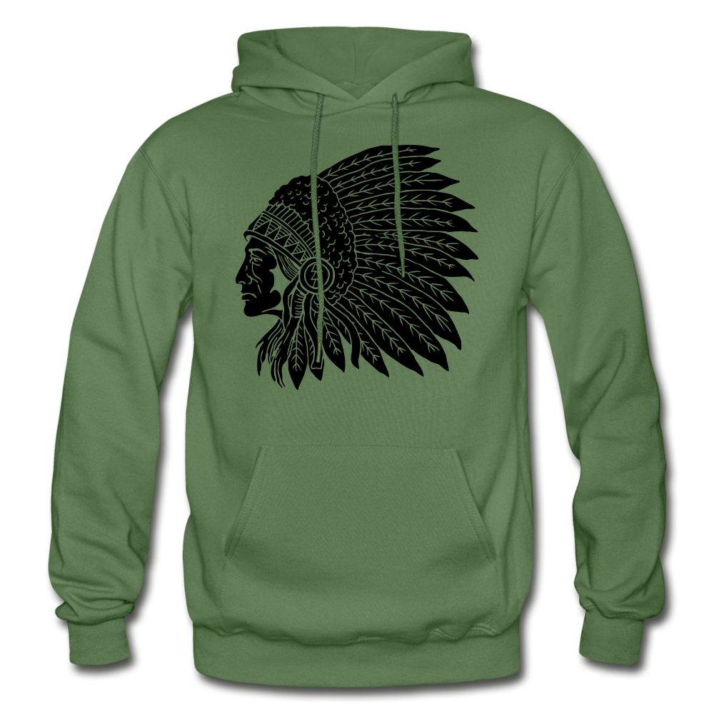 Native Hoodie - military green